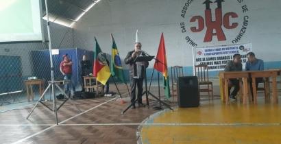 Sindicar presente na posse da diretoria a União das Associações Comunitárias de Carazinho