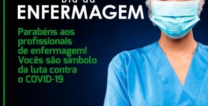 Parabéns á todos os profissionais de Enfermagem
