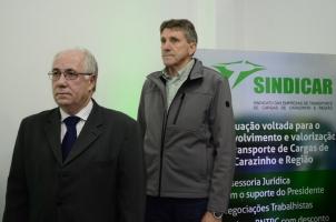 Presidente Moisés K. dos Santos e o prefeito Milton Schmitz