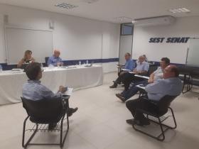 Reunião da Fetransul na sede do Sest Senat Carazinho- RS